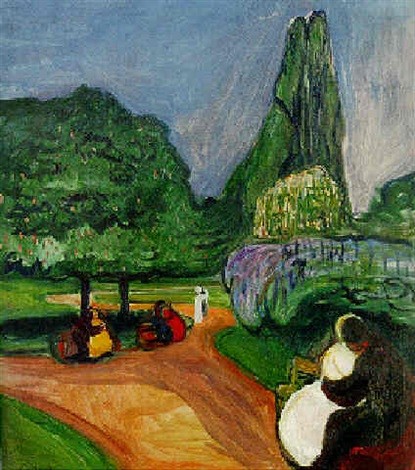 Edvard Munch-Sommernacht im Studentenhain-1902