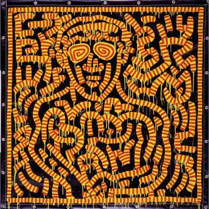 Keith Haring-Keith Haring - Portrait of JFK, Jr-1989