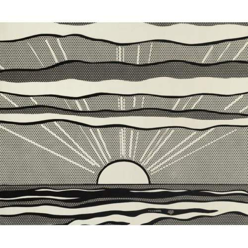 Roy Lichtenstein-Black and White Sunrise-1964
