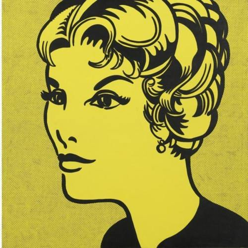 Roy Lichtenstein-Head, yellow & black-1962