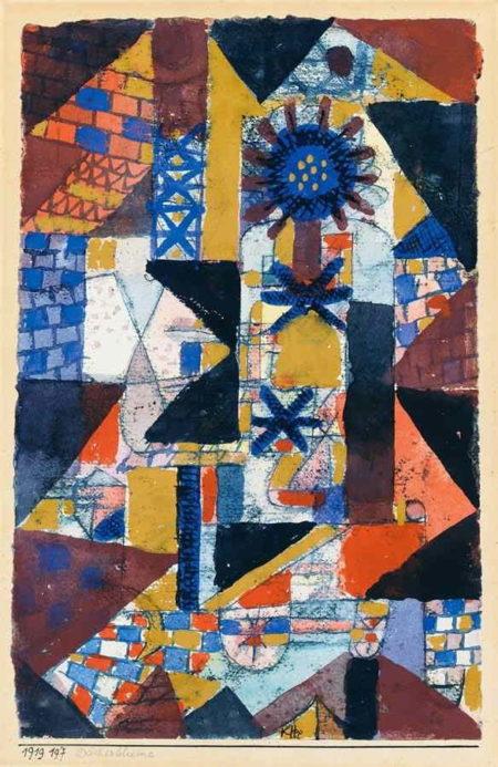 Paul Klee-Dacherblume (Rooftop Flowers)-1919