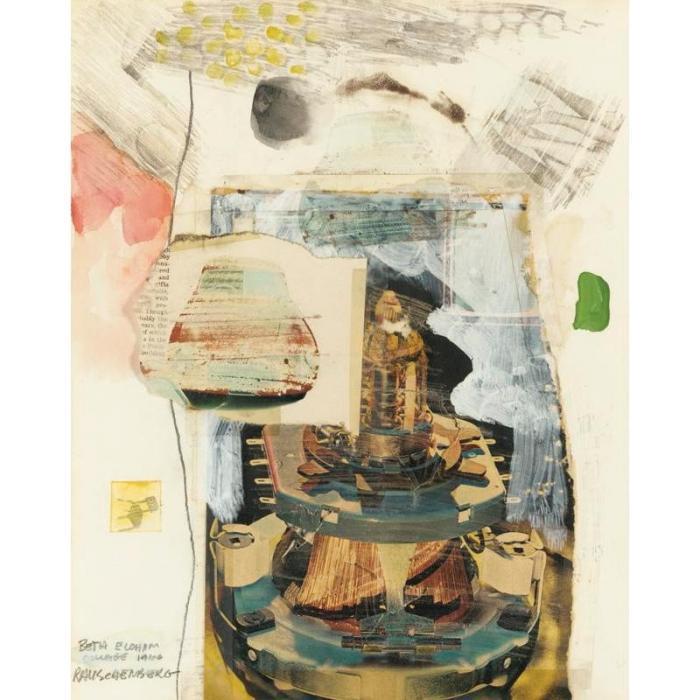 Robert Rauschenberg-Robert Rauschenberg - Beth Elohim Collage-1966