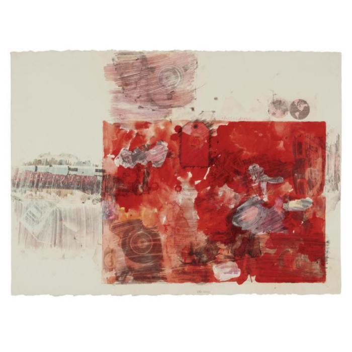Robert Rauschenberg-Robert Rauschenberg - Red Body-1969