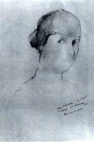 Marcel Duchamp-Portrait of Florine Stettheimer-1952