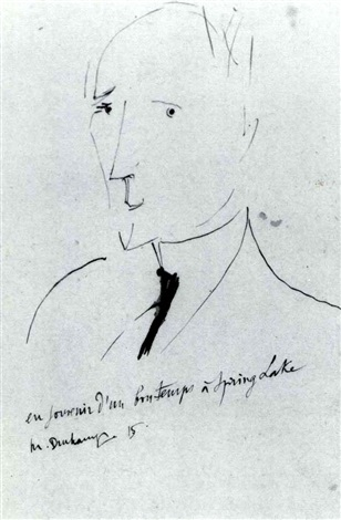 Marcel Duchamp-Portrait of John Quinn (1870-1924)-1915