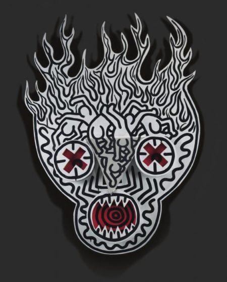 Keith Haring-Keith Haring - Untitled (Burning Skull)-1987