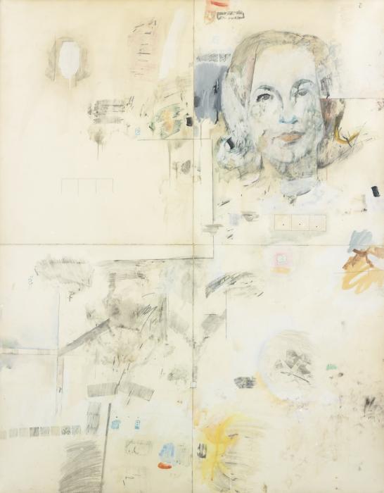 Robert Rauschenberg-Robert Rauschenberg - Portrait of Ethel Scull-1962