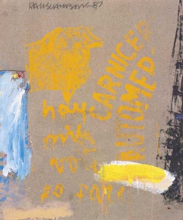 Robert Rauschenberg-Robert Rauschenberg - Meat Ticket (Passes)-1987