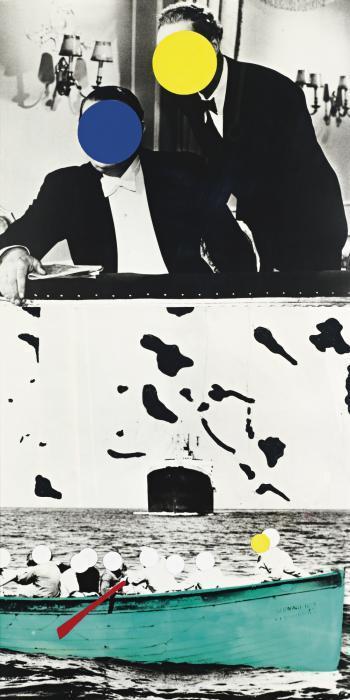 John Baldessari-Boat (Green) with Two Observers-1991