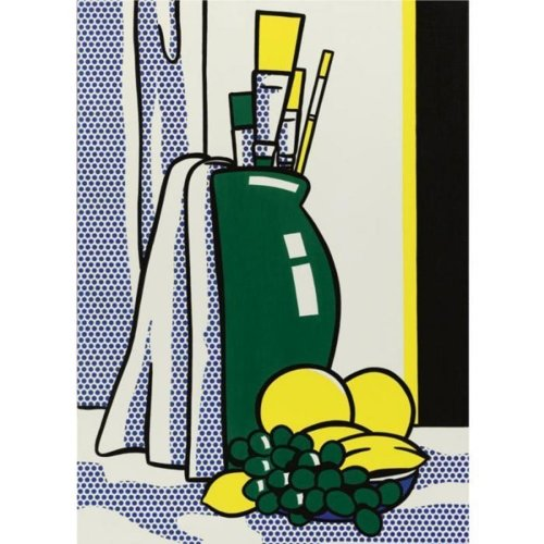 Roy Lichtenstein-Still Life with green Vase-1972