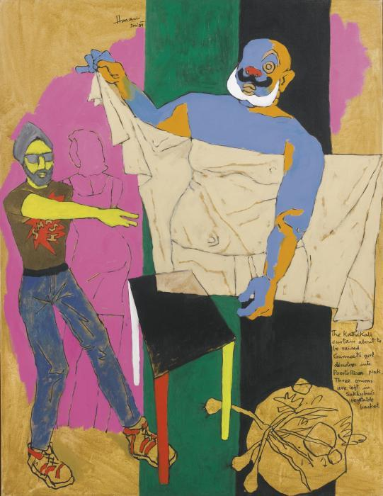 Maqbool Fida Husain-Untitled (From The Wings of Desire Series)-1989