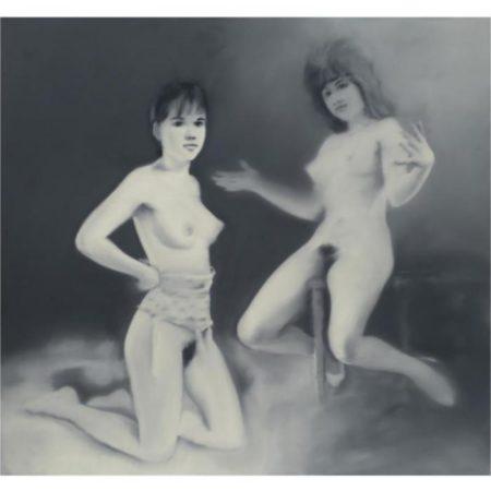 Gerhard Richter-Zwei Spanische Akte (Osterakte)-1967