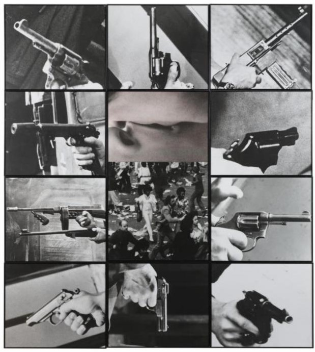 John Baldessari-Kiss, Panic-1984