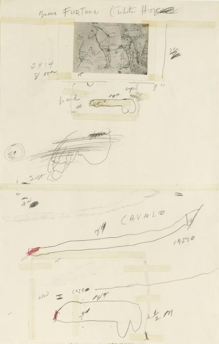 Cy Twombly-Buona Fortuna (White Horse)-1969