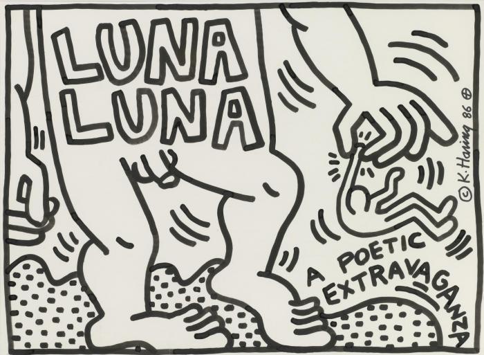 Keith Haring-Keith Haring - Untitled (Luna Luna a Poetic Extravaganza)-1986