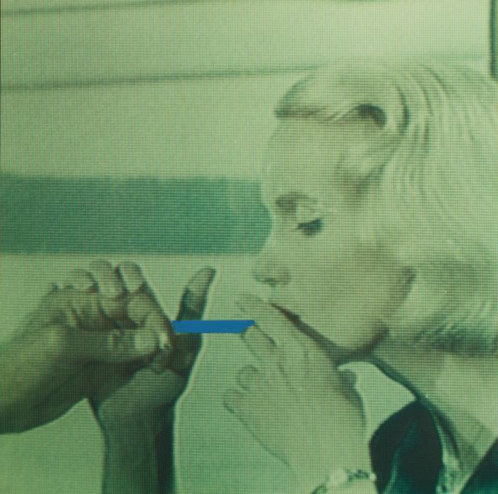 John Baldessari-Blue Cigarette (Hope)-1999