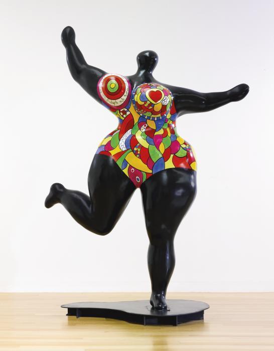 Niki de Saint Phalle-Black Standing Nana-1995