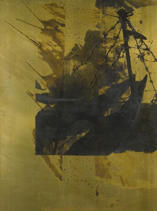 Robert Rauschenberg-Robert Rauschenberg - Shadow Box (Borealis) (Azure Fence)-1989