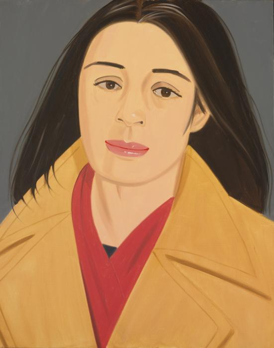 Alex Katz-The Red Scarf (Ada In Polo Coat)-1976