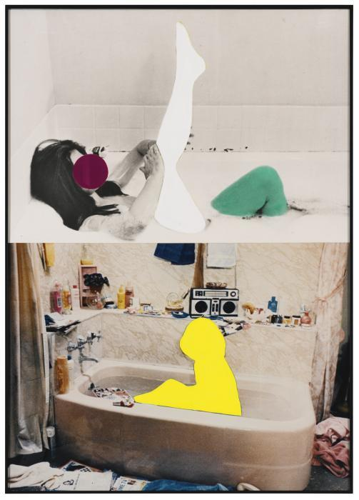 John Baldessari-Two Figures In Bath (One with Extended Leg)-1991