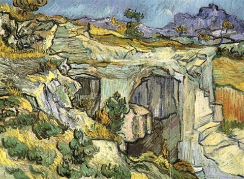 Vincent van Gogh-Carriere pres de Saint-Remy-1889