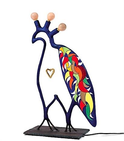 Niki de Saint Phalle-Lampe oiseau, (Le faucon bleu)-1980