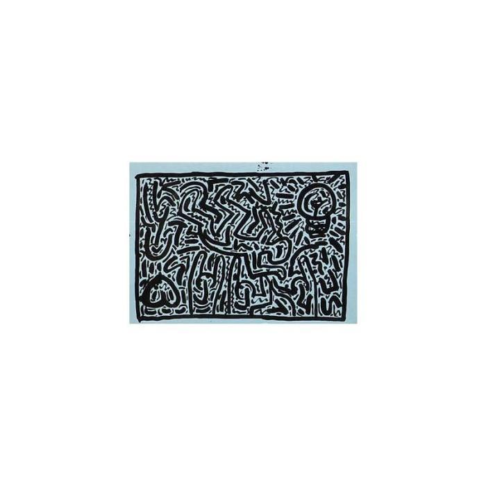 Keith Haring-Keith Haring - Composition in black & blue-1982