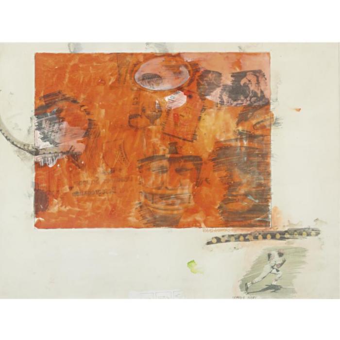 Robert Rauschenberg-Robert Rauschenberg - Orange Body-1969