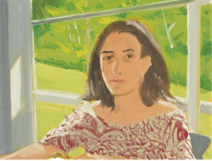Alex Katz-Ada in Print Dress-1977