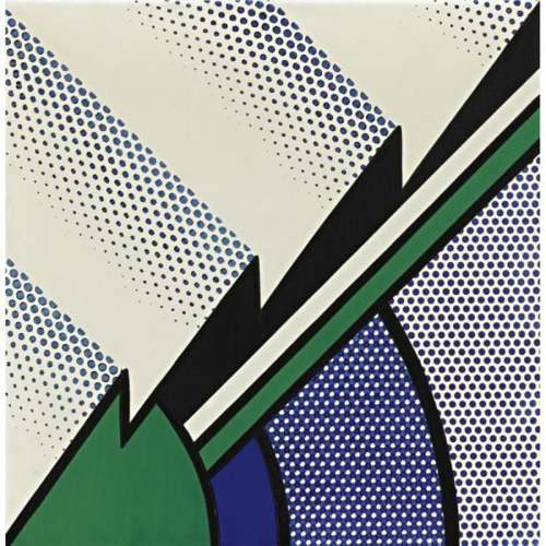 Roy Lichtenstein-Blue and green Modern Painting-1967