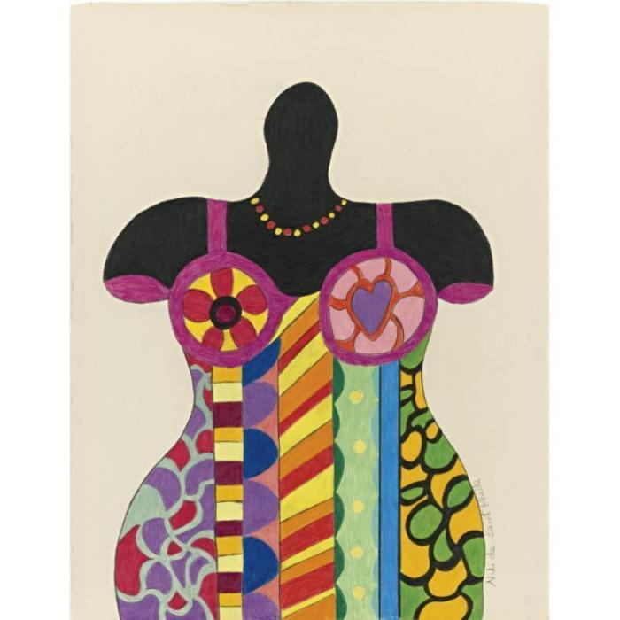 Niki de Saint Phalle-Femme au maillot colore-1989