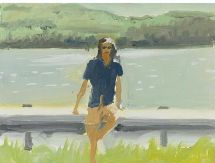 Alex Katz-Ada at Lake Megunticook-1986