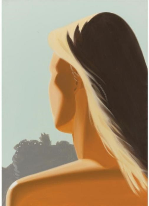 Alex Katz-Girl (Back)-1985