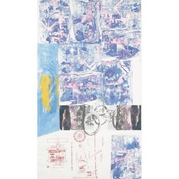 Robert Rauschenberg-Robert Rauschenberg - Azure Reef (Renault Paper Work)-1984