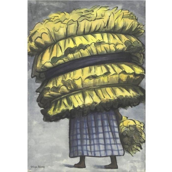 Diego Rivera-Vendedora de hojas de maiz (Leaves seller)-1935