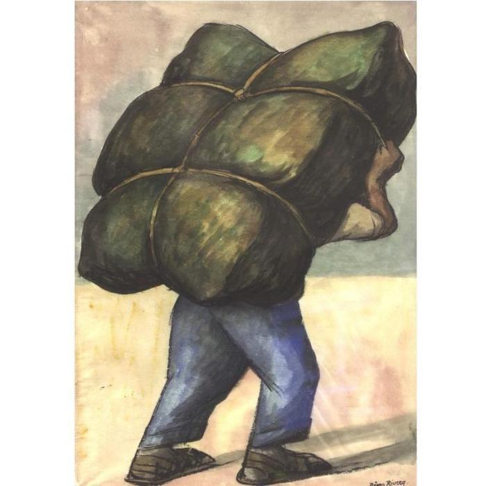 Diego Rivera-Cargador-1937