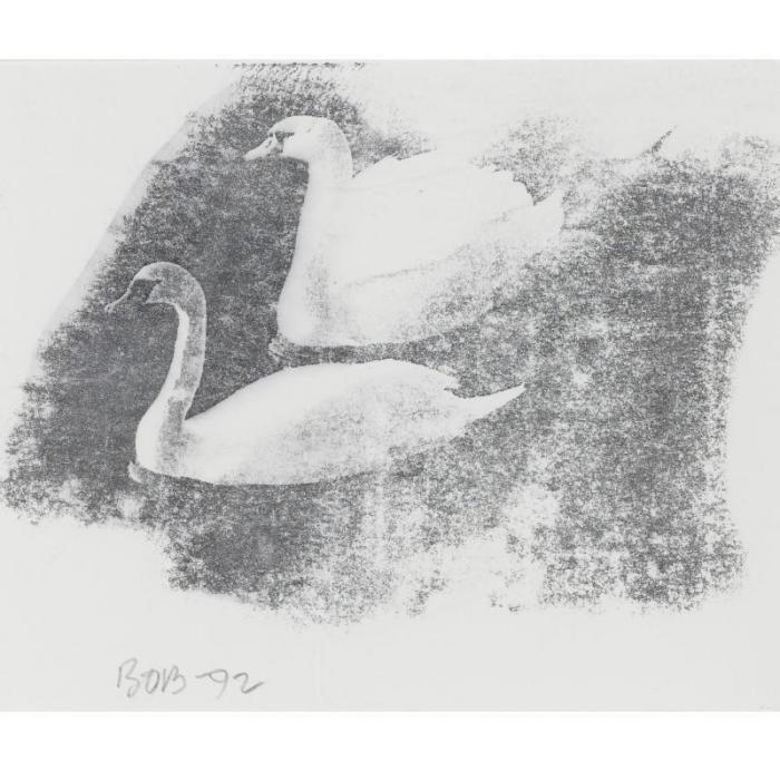 Robert Rauschenberg-Robert Rauschenberg - Two Swans-1992