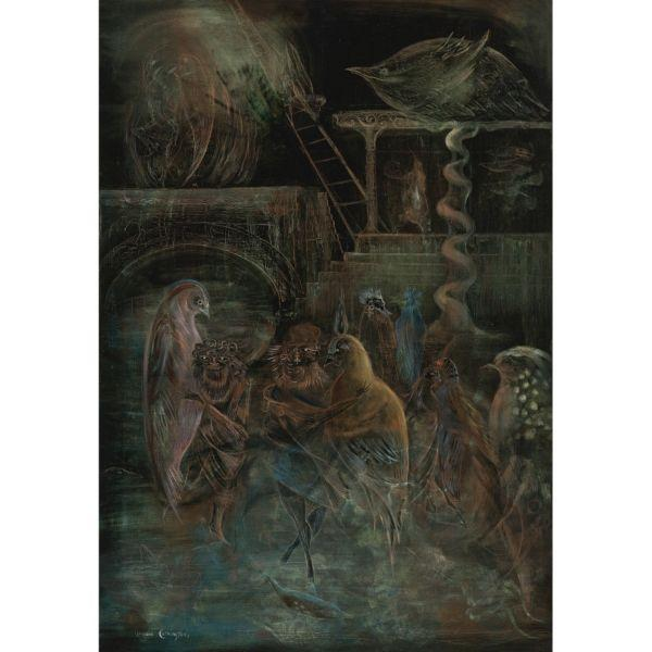 Leonora Carrington-Occult Scene (Jacob's Ladder)-1955