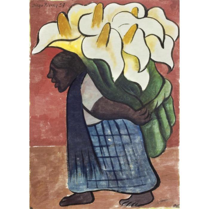 Diego Rivera-Mujer cargando alcatraces-1937
