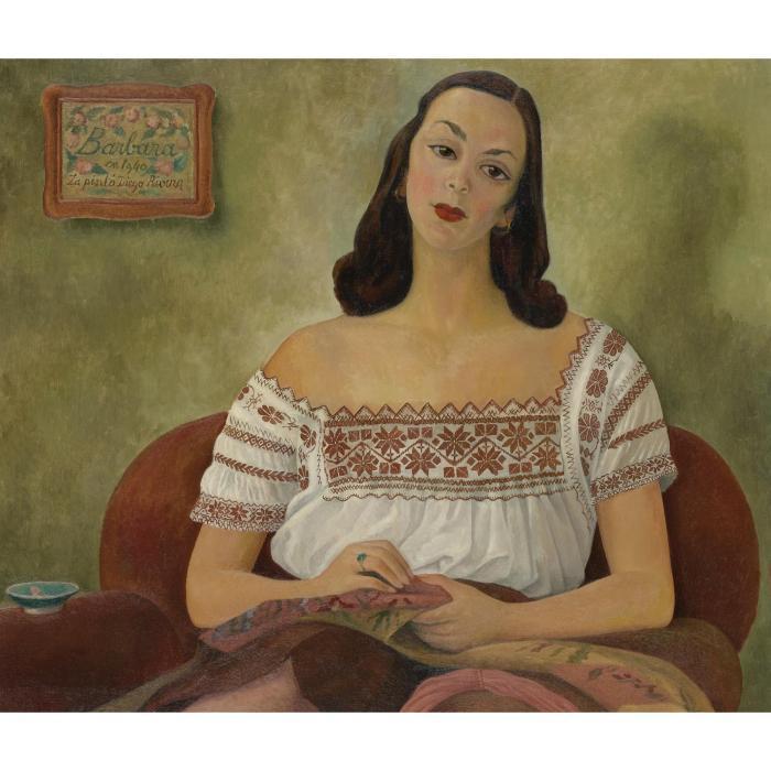 Diego Rivera-Barbara-1940