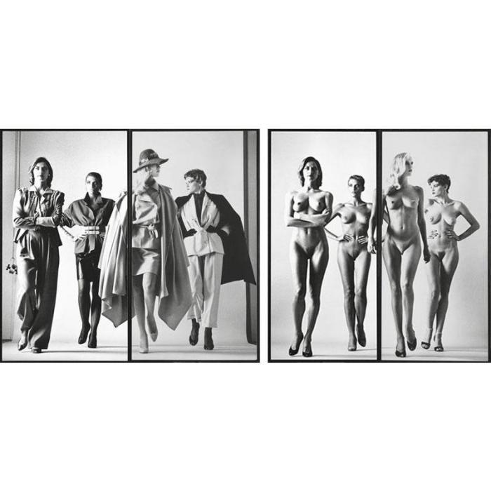 Helmut Newton-Sie Kimmen, dressed, Paris; Naked, Paris-1981