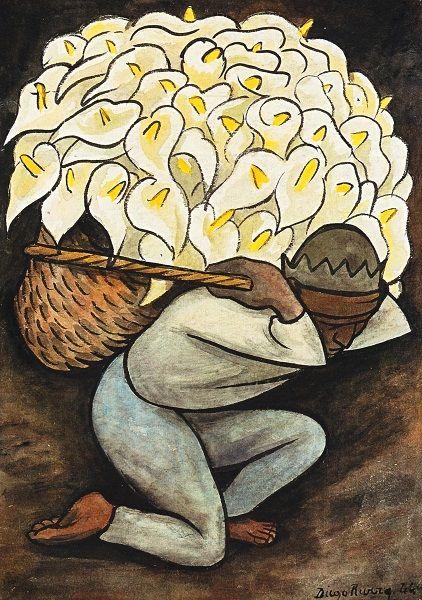Diego Rivera-Hombre cargando alcatraces-1944