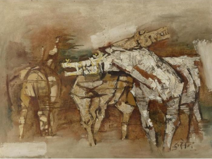 Maqbool Fida Husain-Bewildered Brown-