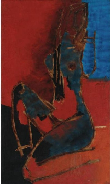 Maqbool Fida Husain-Untitled (Maya V)-
