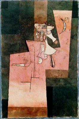 Paul Klee-Silbermondgelaute (Silver Moon Rising)-1922