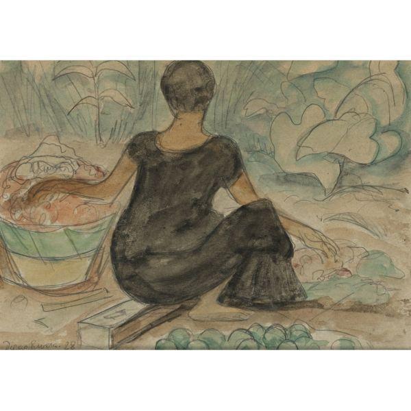 Diego Rivera-Vendedora en el Mercado-1928