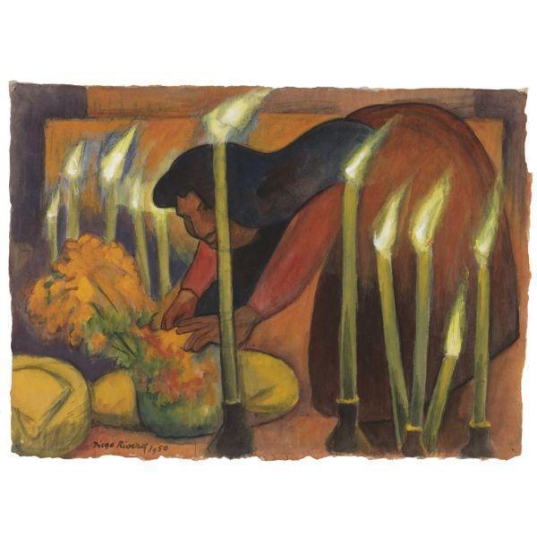 Diego Rivera-La Ofrenda-1950