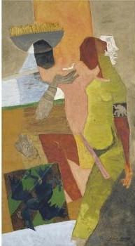 Maqbool Fida Husain-Untitled (Two Women)-1970