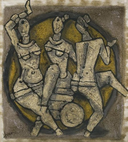 Maqbool Fida Husain-Untitled (Dancers)-1980