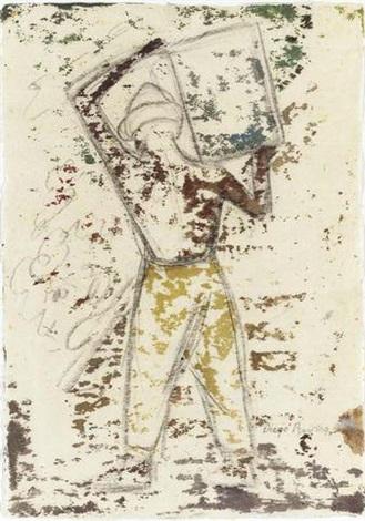 Diego Rivera-Obrero-1947